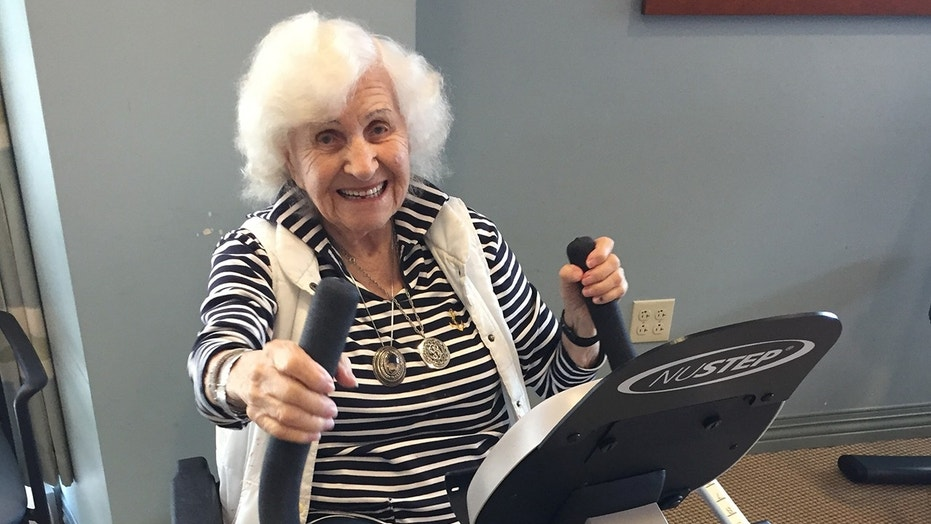 Regina Zlotnik was all smiles for her birthday workout.