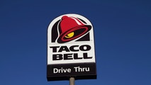 Amarillo, Texas, USA - May 12, 2011: A Taco Bell Drive Thru sign. Taco Bell is a national chain of fast food restaurants specializing in Mexican cuisine.
