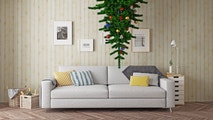 upside down christmas tree istock