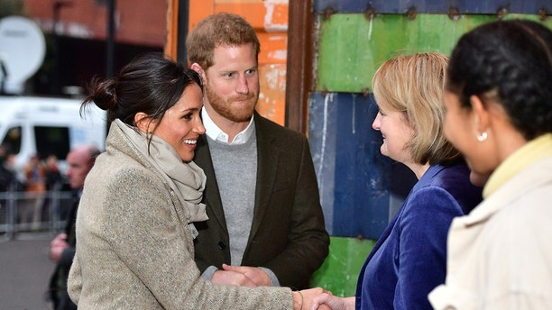 Meghan Markle and Prine Harry visited a radio station in London England