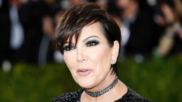 """Television personality Kris Jenner arrives at the Metropolitan Museum of Art Costume Institute Gala (Met Gala) to celebrate the opening of """"Manus x Machina: Fashion in an Age of Technology"""" in Manhattan borough of New York, May 2, 2016. REUTERS/Eduardo Munoz - HT1EC53009V9P"""