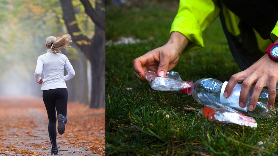 A new fitness trend involves jogging and cleaning up trash for a full-body workout.
