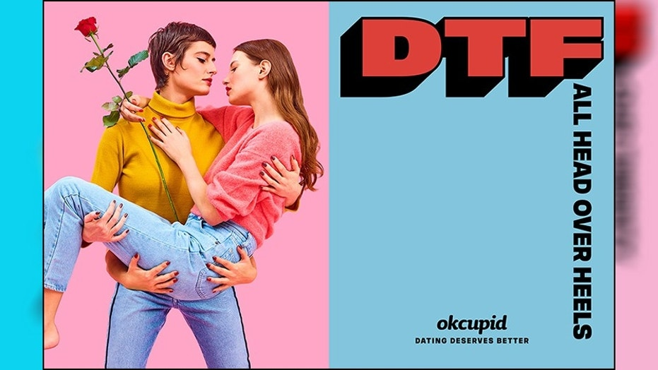 "OkCupid's new ""DTF"" ad campaign has drawn criticism from a conservative group who wants it taken down."