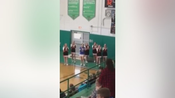 cheerleader cheering alone carla shaner