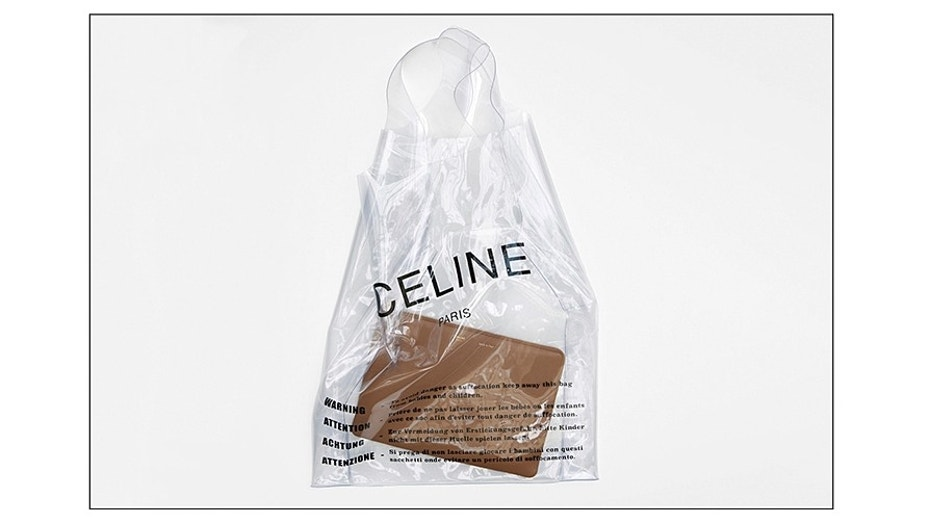 The clear bag will cost you a pretty penny.