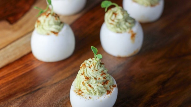avocado devilled eggs