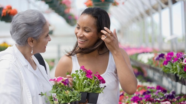 Mother and Daughter shopping together at Garden Nursery