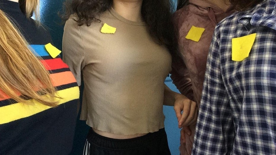 Teens in Quebec are protesting their school dress codes by wearing a yellow square pinned to their clothes.