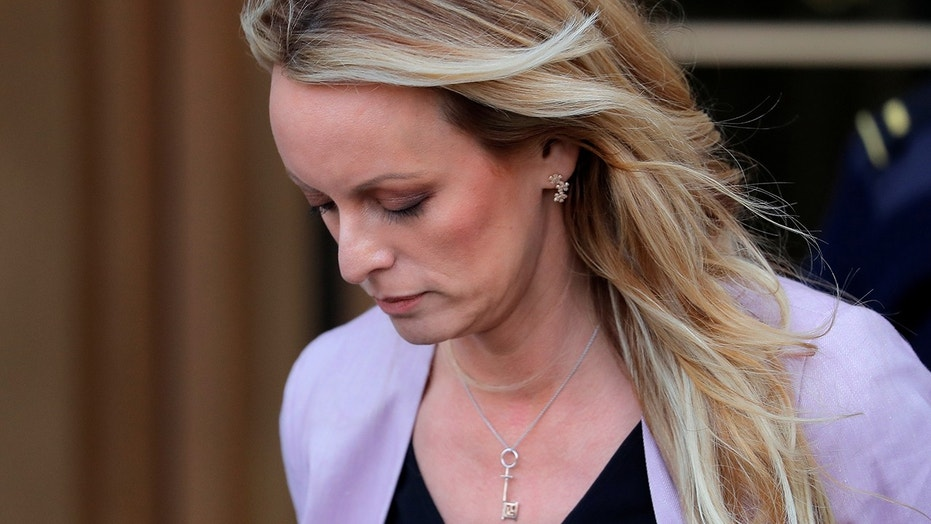"""Stormy Daniels' key necklace have left many to wonder if there's a """"hidden meaning"""" behind it."""