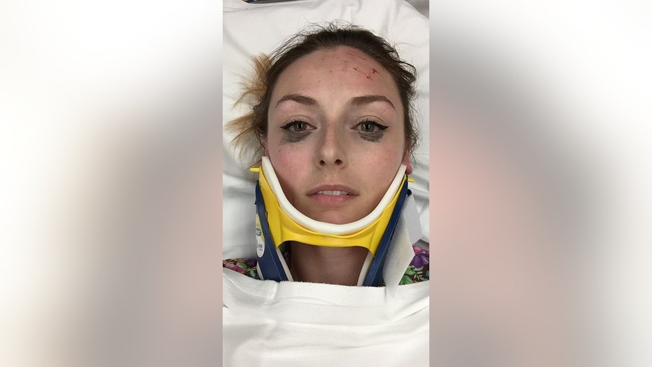 A woman's review about her eyeliner holding up after a car accident has gone viral on social media.