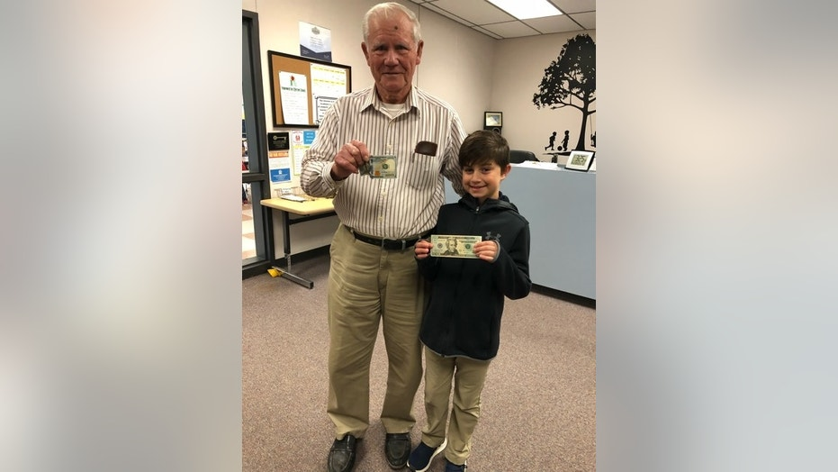 Jaron returned the man's $100 bill on Monday.