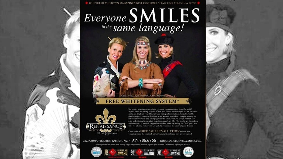The Renaissance Dental Center came under scrutiny for this advertisement promoting teeth whitening.