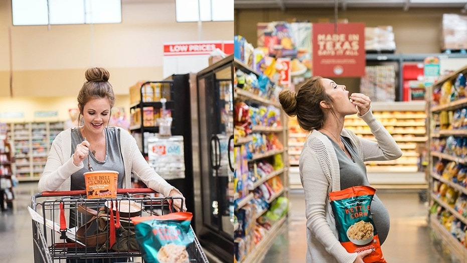 """We came up with the grocery store, and that was perfect because it has all of my favorite things,"" Amy Scott said."