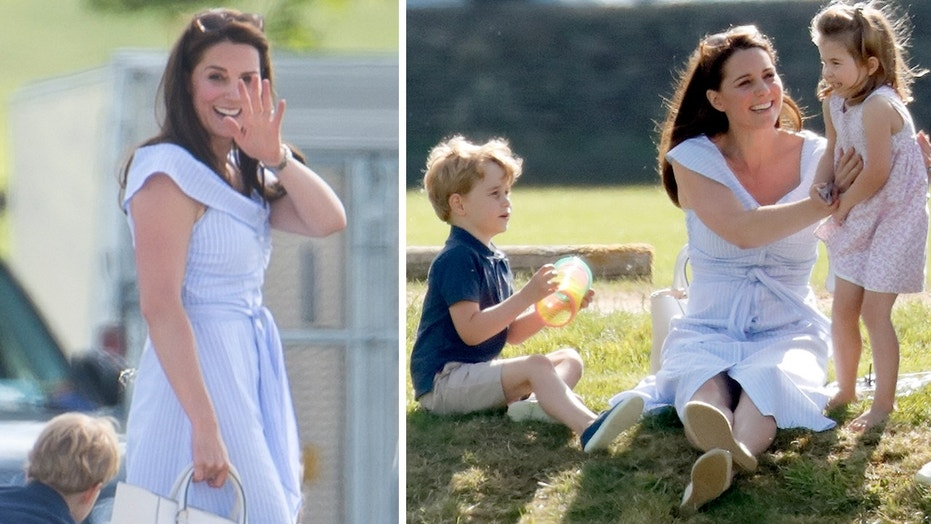 On Sunday afternoon, Kate Middleton wore a $69.90 blue summer dress from Zara on an outing with her family.