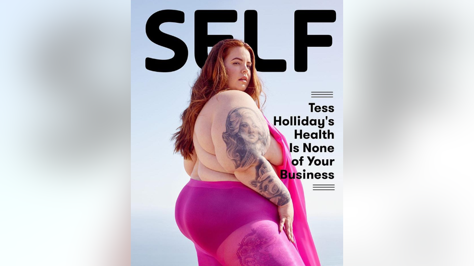 "Self magazine debuted its first digital cover this week, which showed plus-size model Tess Holliday and said her ""health is none of your business."""