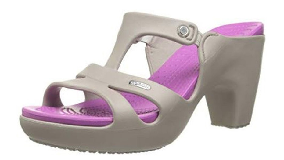 "The new ""Cyprus V"" Crocs are a high-heeled version of the classic clog."