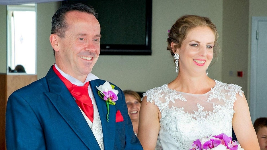 """The bride says she """"burst into tears"""" upon realizing that the stunt was a surprise wedding."""