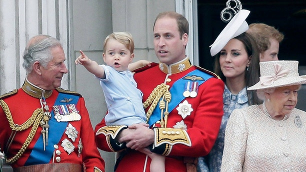 Prince George trooping the color AP