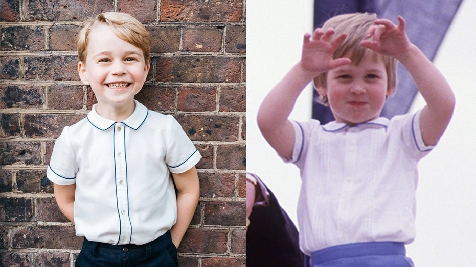 Prince George seems to be inspired by another member of his illustrious family - his father, Prince William.