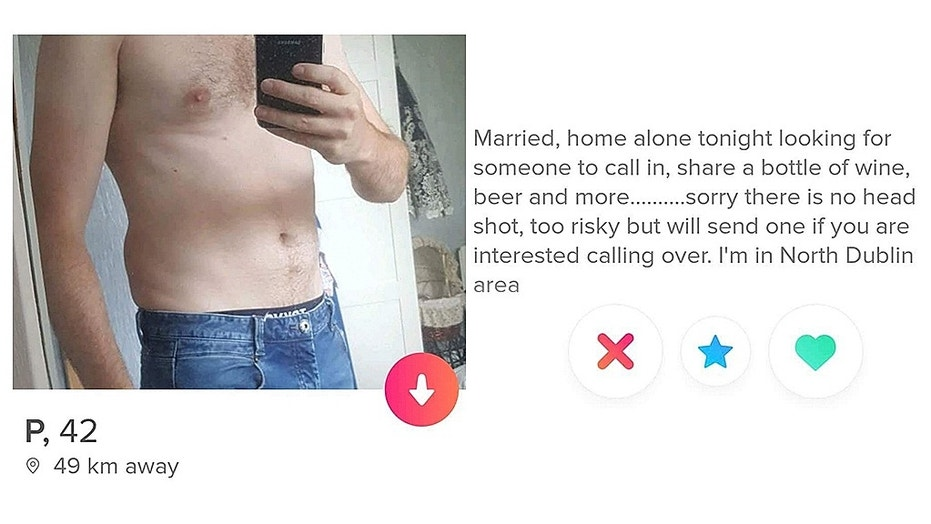 """One male Tinder user, identified as """"P"""" online, is being roasted for his profile on the dating app."""