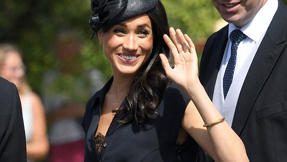 Meghan, Duchess of Sussex, was all smiles as she arrived at the August 4 wedding, which has fallen on her birthday.