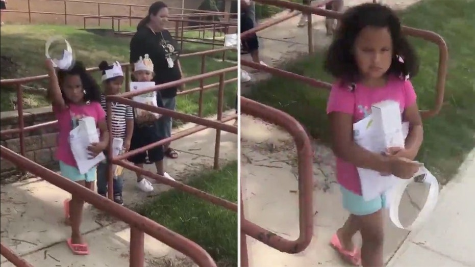 The youngster's furious reaction has since gone viral on Twitter.