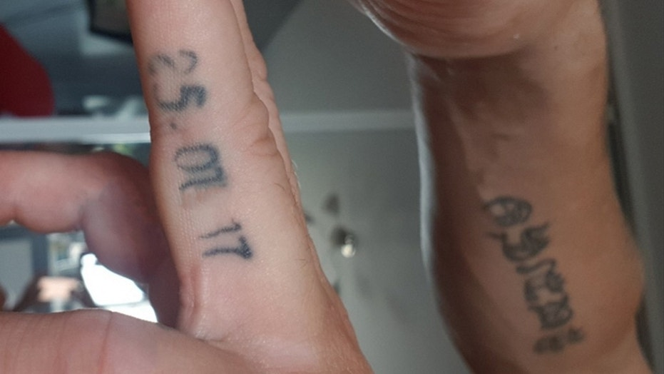 The newlywed had the wrong date inked on his finger before realizing something was amiss.