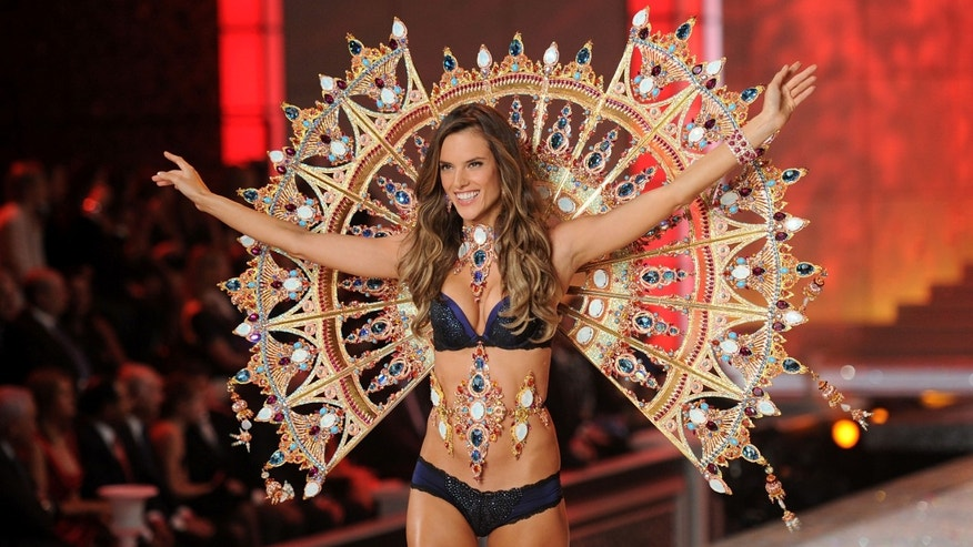 NEW YORK, NY - NOVEMBER 09:  Model Alessandra Ambrosio walks the runway during the 2011 Victoria's Secret Fashion Show at the Lexington Avenue Armory on November 9, 2011 in New York City.  (Photo by Jamie McCarthy/Getty Images)