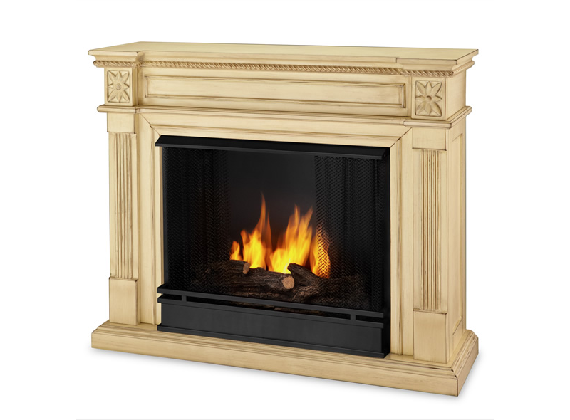 Elise Gel Fuel Fireplace - Antique White Finish. No Chimney ... - No Chimney Required: Six Faux Fireplaces Fox News