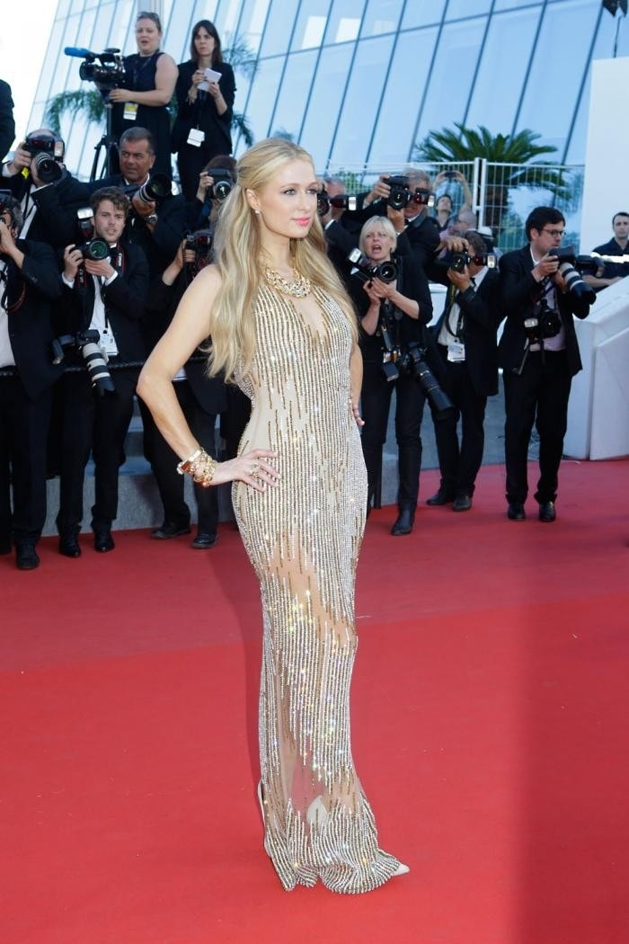 paris hilton stuns in two revealing gowns at cannes film festival fox news. Black Bedroom Furniture Sets. Home Design Ideas