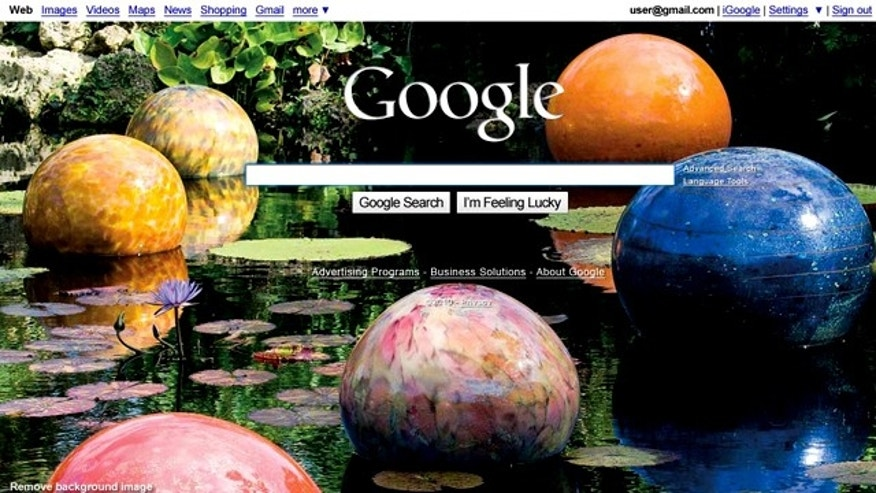 Google briefly altered its homepage Thursday to include colorful background images -- and drew gripes from users who preferred the simpler layout.