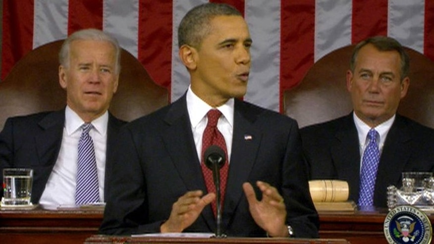 Jan. 24, 2012: President Obama delivers his State of the Union address to Congress.