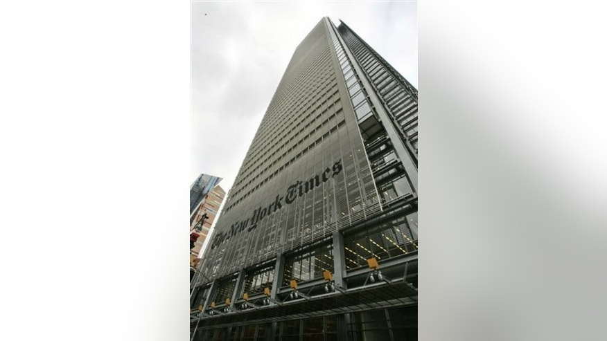 The New York Times' headquarters is just three miles north of Ground Zero. (AP)