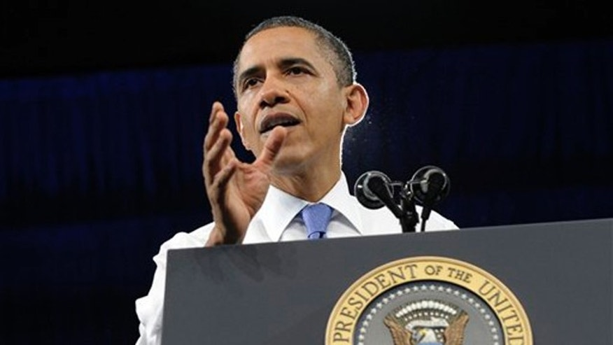 Feb. 23, 2012: President Obama speaks at the University of Miami Field House in Coral Gables, Fla.