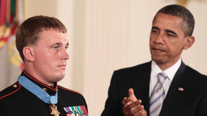 United States Marine Sgt. Dakota Meyer, the youngest American to be awarded the Medal of Honor,, battled Post-Traumatic  Stress Disorder. (AP)