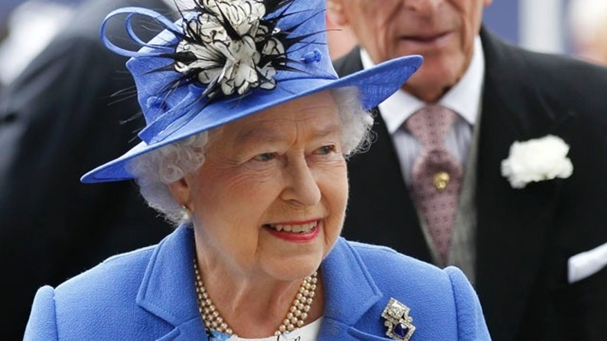 June 2, 2012: Britain's Queen Elizabeth II and Prince Philip arrive for the Epsom Derby at Epsom race course, southern England at the start of  four-day Diamond Jubilee celebrations to mark the 60th anniversary of the Queen's accession to the throne.
