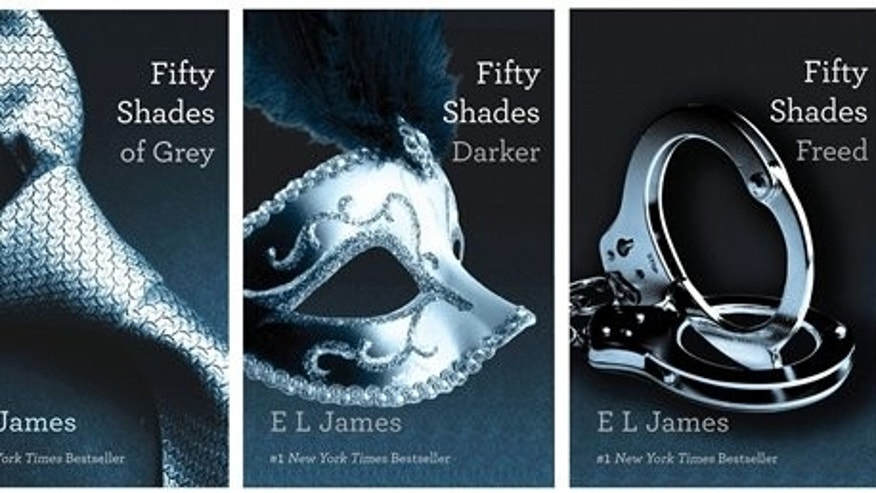 This combo made of book cover images provided by Vintage Books shows the 'Fifty Shades of Grey'; trilogy by best-selling author E L James.