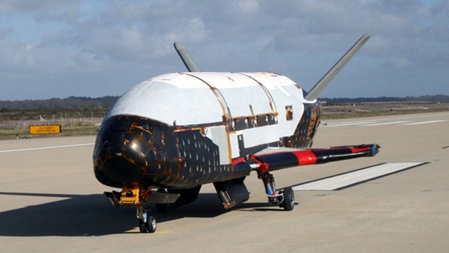 This undated file image provided by the U.S. Air Force shows the X-37B spacecraft.