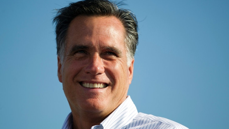 June 19, 2012: Republican presidential candidate, former Massachusetts Gov. Mitt Romney speaks during a campaign stop at Holland State Park in Holland, Mich.