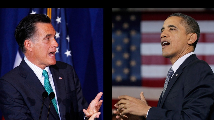 Then-Republican presidential nominee Mitt Romney and President Barack Obama in 2012.