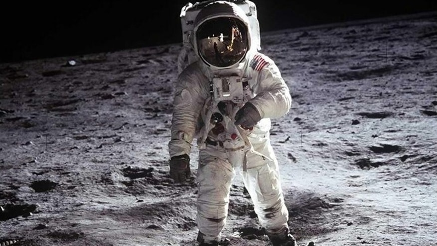 "2. Buzz Aldrin, Apollo 11, 1969: Astronaut Buzz Aldrin, lunar module pilot, walks on the surface of the Moon near the leg of the Lunar Module ""Eagle"" during the Apollo 11 extravehicular activity (EVA). Astronaut Neil A. Armstrong, commander, took this photograph with a 70mm lunar surface camera."