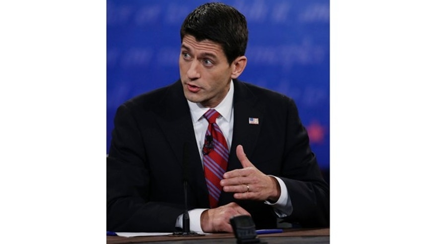 Oct. 11, 2012: Republican vice presidential nominee, Rep. Paul Ryan, of Wisconsin, during the vice presidential debate