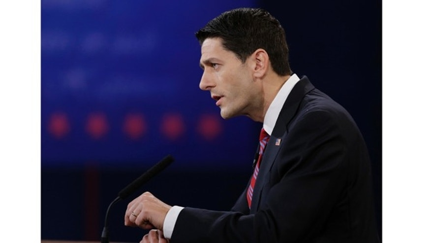 Oct. 11, 2012: Republican vice presidential nominee, Rep. Paul Ryan, of Wisconsin, speaks during the vice presidential debate at Centre College in Danville, Ky.