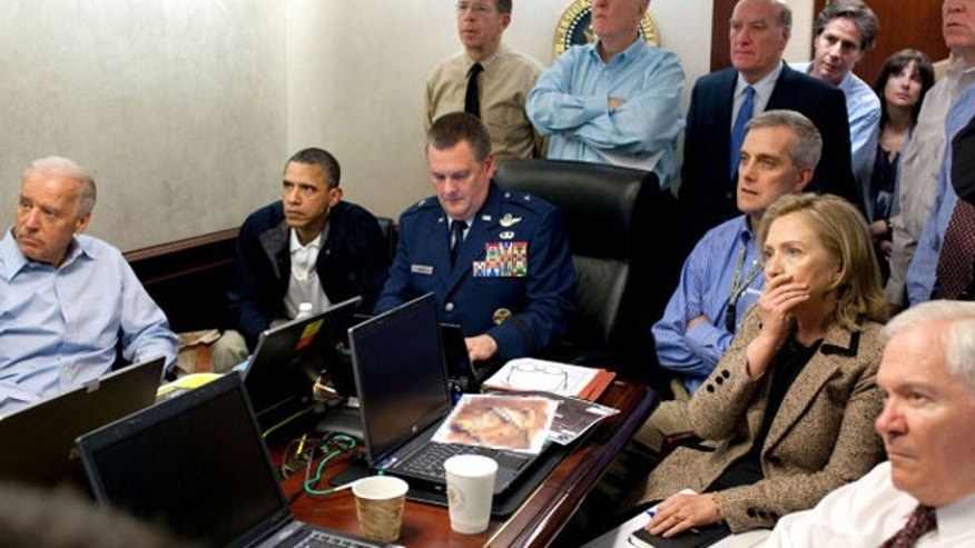 President Obama and senior staff watch the Usama bin Laden mission unfold from the Situation Room on Sunday May 1, 2011/