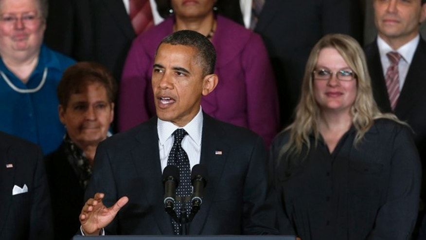 Nov. 9, 2012: President Barack Obama gestures as he speaks about the economy and the deficit.