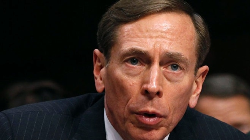 FILE: January 31, 2012 : Then-CIA Director David Petraeus speaks at a Senate intelligence committee hearing on Capitol Hill, in Washington.