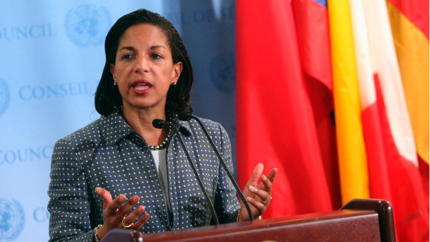 FILE: June 7, 2012: Susan Rice, U.S. ambassador to the United Nations, speaks at U.N. headquarters in New York.