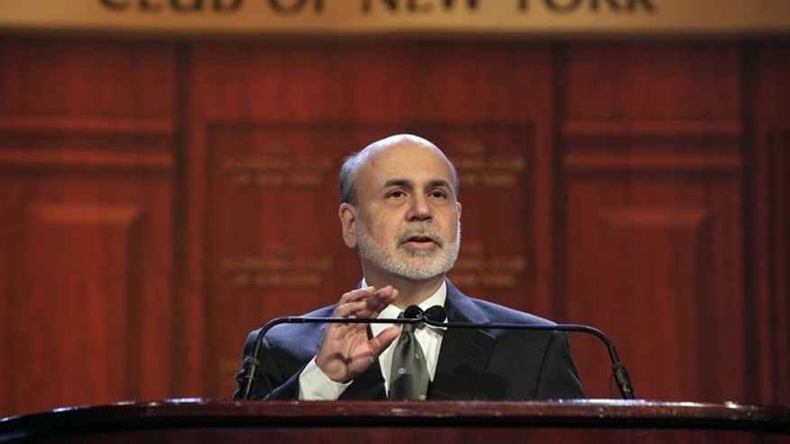 Nov. 20, 2012: Federal Reserve Chairman Ben Bernanke addresses a luncheon gathering of The Economic Club of New York.