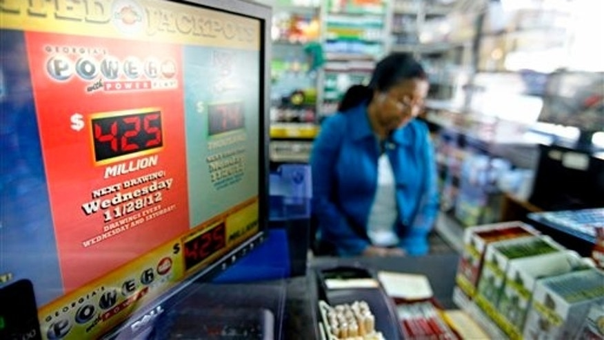 The current Powerball jackpot is seen on a computer screen in Georgia.