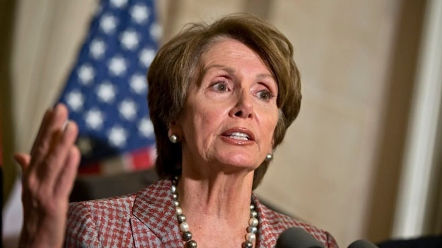 Nov. 29, 2012: House Minority Leader Nancy Pelosi speaks to reporters at the Capitol in Washington.